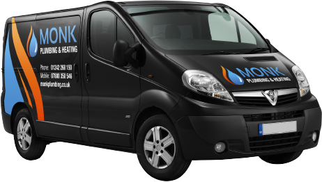 Monk Plumbing & Heating van